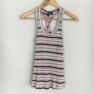 Anthro Left of Center Ribbed Striped Tank Top